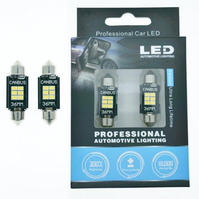 LED лампа STELLAR SV8,5(C10W) 36мм с обманкой в подсветку номера и салона. Белый(1 шт)