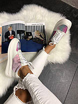 Женские кроссовки Louis Vuitton Sneakers Pink White (кеды Луи Витон) белые, фото 3