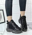 Зимние женские ботинки в черном цвете, эко замша 40 ПОСЛЕДНИЙ РАЗМЕР, фото 2