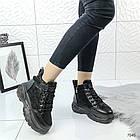 Зимние женские ботинки в черном цвете, эко замша 40 ПОСЛЕДНИЙ РАЗМЕР, фото 3