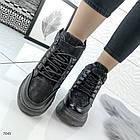 Зимние женские ботинки в черном цвете, эко замша 40 ПОСЛЕДНИЙ РАЗМЕР, фото 4