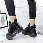Зимние женские ботинки в черном цвете, эко замша 40 ПОСЛЕДНИЙ РАЗМЕР, фото 6