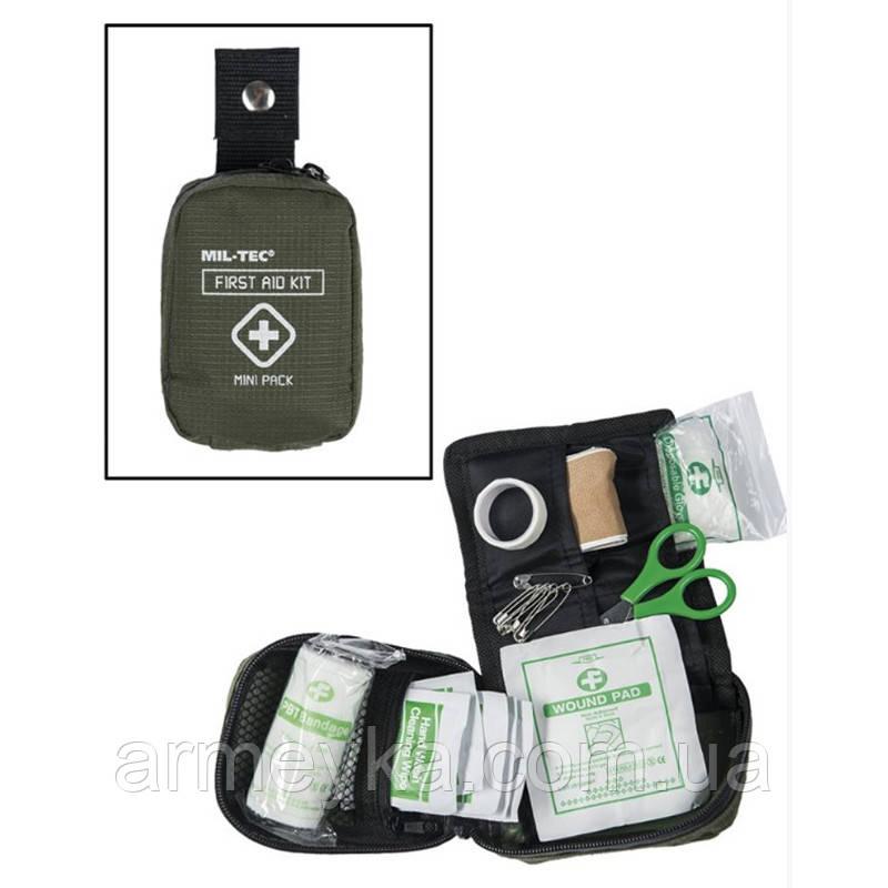 """Набор первой помощи/аптечка """"Mini Pack"""", олива. Mil-Tec, Германия."""