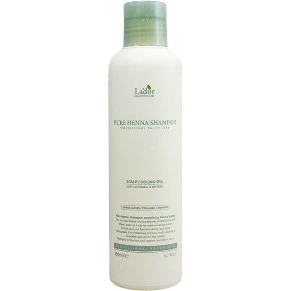 Шампунь профессиональный с хной против выпадения волос La'dor Pure Henna Shampoo 200 мл