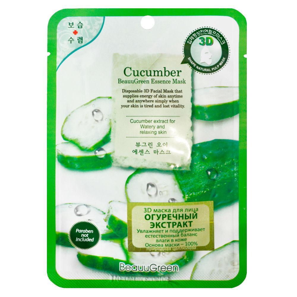 Маска тканевая с огурцом BeauuGreen Essence Cucumber Mask 23 мл