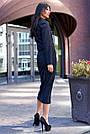 Женский юбочный костюм, р. от 42 до 50, вельвет чёрный, фото 4