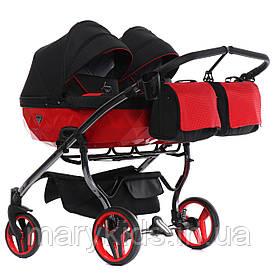 Детская универсальная коляска для двойни Junama Diamond Duo S-line 01