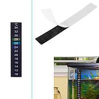 Цифровой термометр для аквариума самоклейка 13см 18-34°C
