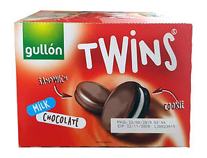 Печиво GULLON Twins сендвіч в молочному шоколаді, 42 г, 126 шт/ящ