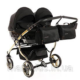Детская универсальная коляска для двойни Junama Diamond Duo S-line 02