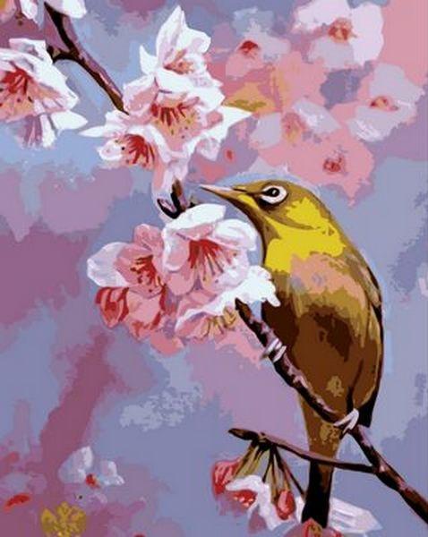 Картина за номерами 40×50 див. Mariposa Сакура цвіте Художник Вавейкина Світлана (Q 703)