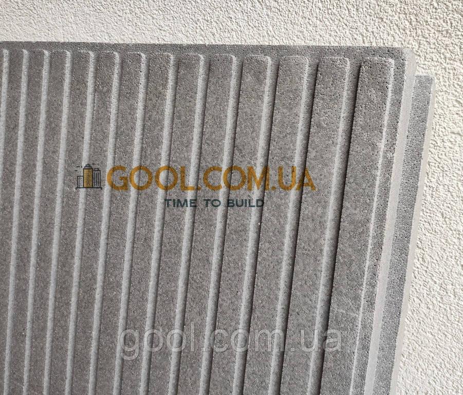 Пенопласт с пазами графитовый из Неопора 1100х600х100 мм плотность 25-26 кг\м3
