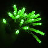 ЗЕЛЕНЫЙ Светодиодные гирлянды на уличные деревья STRING LIGHT 20 м., фото 4