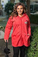 """Женская куртка-ветровка """"Квебек"""" с капюшоном и карманами (большие размеры)"""