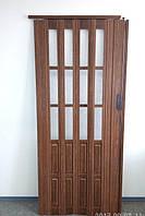 Двери гармошка полуостеклённые разные цвета  86х203, Более 25 цветов. Межкомнатные двери гармошка. Доставка.