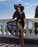 Пляжная туника в пол| 9 цветов 42-44, Черный, фото 2