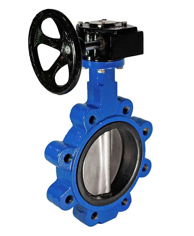 Затвор дисковый поворотный межфланцевый диск - н/ж сталь LUG Ду 125 Ру16 Баттерфляй Серия 22А, СМО (Испания)