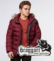 Braggart Aggressive 16115   Зимняя куртка с опушкой бордовая