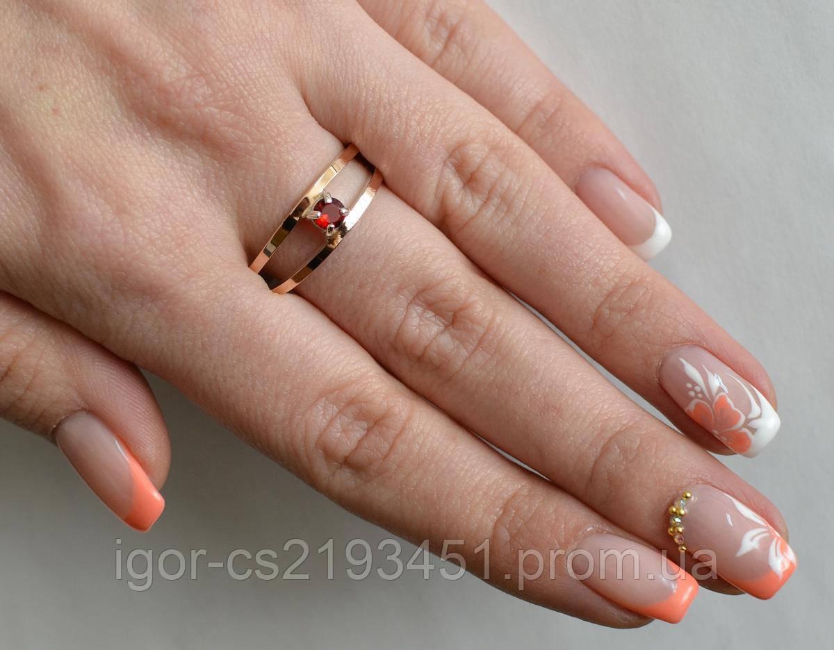 Серебряное кольцо с пластинами из золота