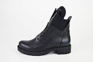 Ботинки Teona демисезонные кожа черные 19155, фото 2