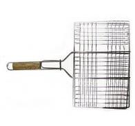 Решітка прямокутна з дерев'яною ручкою 63смх28см Art 73-506 ПП