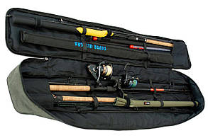 Чохол для вудилищ LeRoy Sky Сірий 150 см з фіксаторами, фото 3