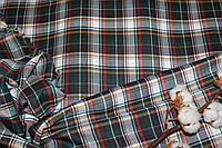 Ткань костюмная плательная клетка, натуральные волокна, слабый стрейч (5%эластана) №339