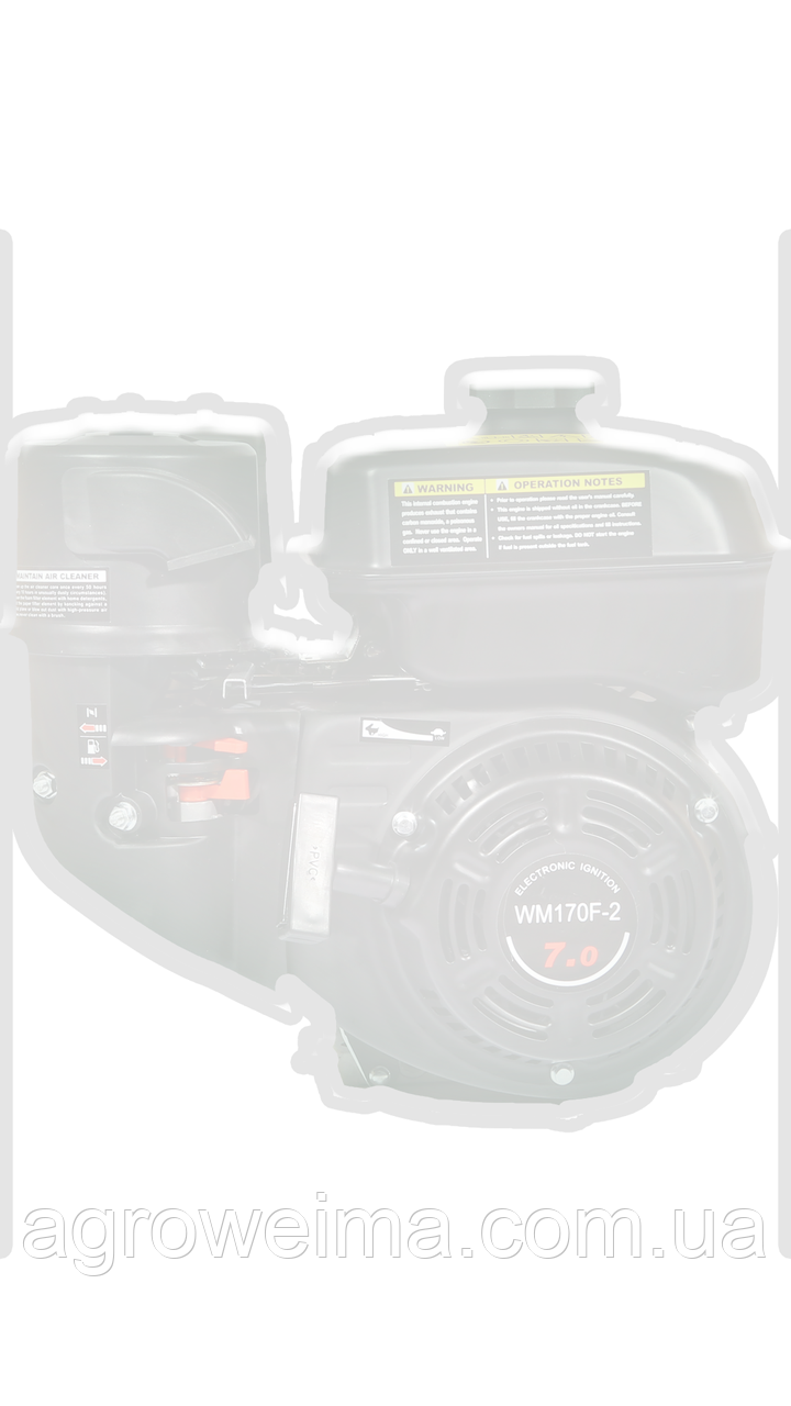 Двигатель бензиновый WEIMA WM170F-L(R) NEW,бак 5,0л.(редукт цепь 1/2, 1800об/м, шпонка),7.0л.с.