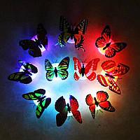 Ночник бабочка цветные световые наклейки на стену с бабочкой Легкая установка ночник для дома, гостиной, детск