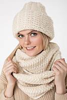 Снуд шарф женский крупной вязки