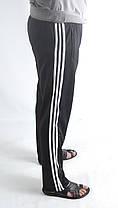 Штаны спортивные  трикотаж - 3 белые полосы., фото 2