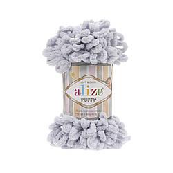 Пряжа фантазийная Alize Puffy № 416