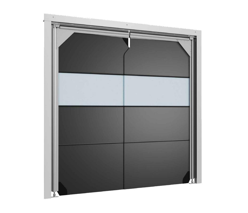 Маятниковые двери DoorHan SSD-AV антивандальные пленочного типа