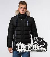 Braggart Aggressive 20128 | Мужская куртка с меховой опушкой черная, фото 1