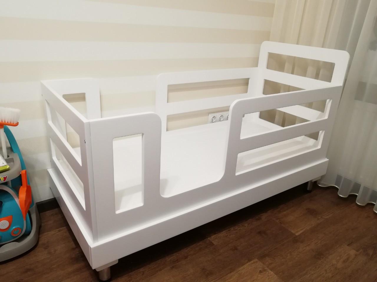 Детская кровать 'Аннабель' в белом цвете, фото 1