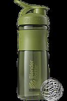 🔥✅ Спортивная бутылка-шейкер BlenderBottle SportMixer 820ml Moss Green (ORIGINAL)