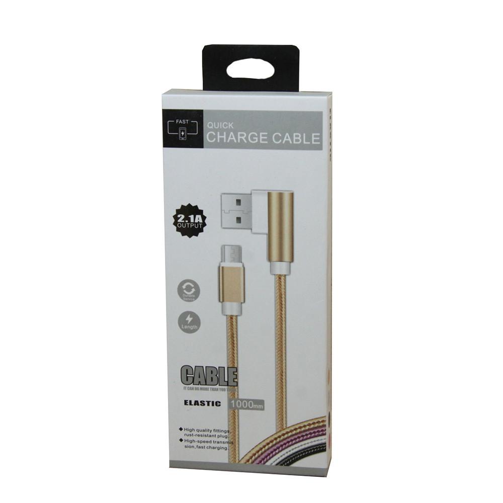 Кабель Quick Charge Cable USB-Lightning боковой D1031