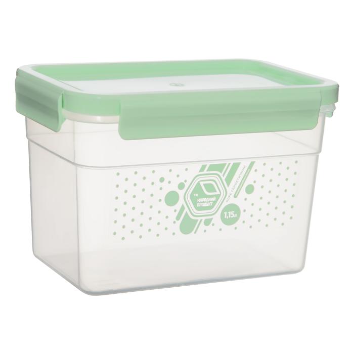 Герметичный контейнер для еды Народный продукт  1,15 л мятный
