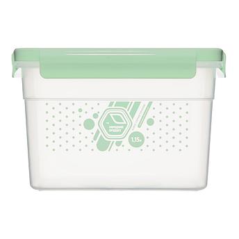 Герметичный контейнер для еды Народный продукт  1,15 л мятный, фото 2
