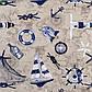 Ткань хлопковая для штор, подушек с морской тематикой 82637v1, фото 3
