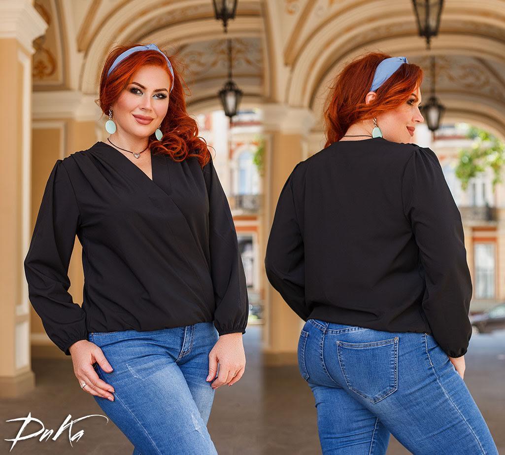 Удобная блузка свободного кроя