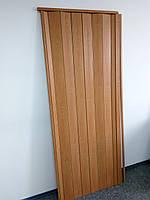 Акция! Двери гармошка глухая - цвет вишня. 100% Гарантия качества. 81х203. Межкомнатные двери гармошка