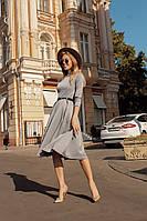 Платье женское трикотажное с поясом, фото 1