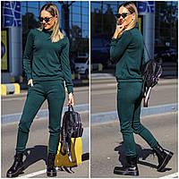 Женский спортивный костюм ангора черный серый бордо зеленый С М Л ХЛ, фото 1