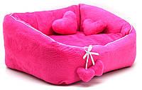 Лежак для котов и собак Нежность розовый