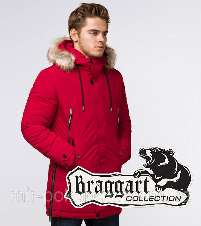 Braggart Arctic 20758 | Мужская зимняя парка красная, фото 1