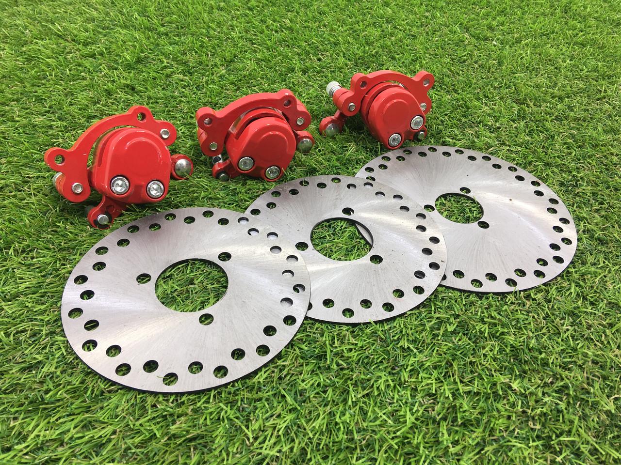 Тормозной набор (диски+суппорта) для электрквадроциклов Crosser 90505