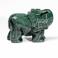 Статуэтка Слоник из зеленой яшмы, 500ФГЯ