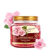 Ночная маска с лепестками розы BIOAQUA Flower Petal Rose Sleep Mask