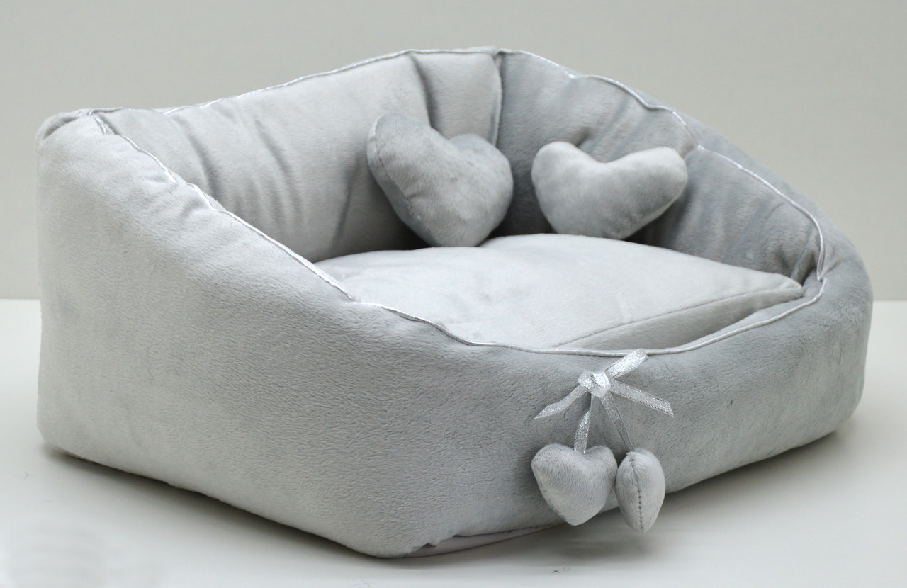 Лежак для котов и собак Нежность серый
